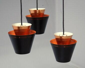 Danish Mid Century Copper Pendant Light by Jo Hammerborg for Fog & Mørup, 1960s