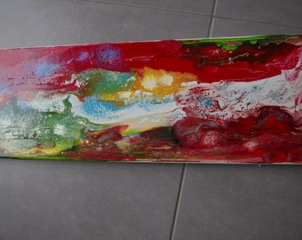 Contemporary mixed media abstract table