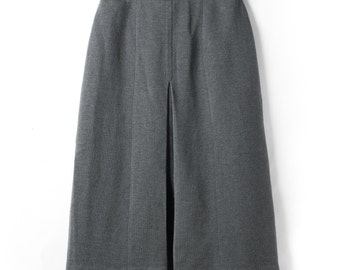 1960's vintage skirt made in Japan Showa retro Gray Pleated