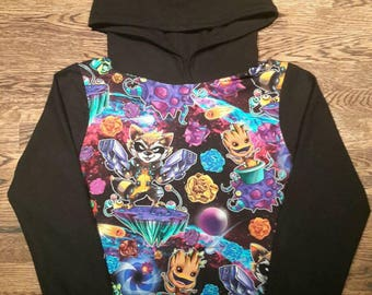 """Sweater long sleeve hooded """"the guardian"""""""