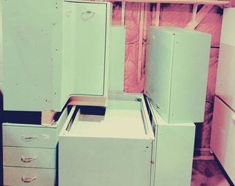 Vintage Midcentury Modern Metal Kitchen Cabinets
