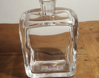 Vintage carafe with glass stopper