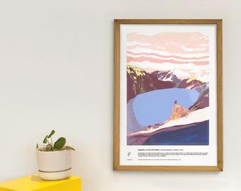 Ruapehu - Educational poster - volcanoes