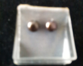earrings, fashion jewelry, black pearls, studs, one of a kind