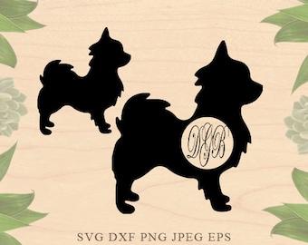 Pomeranian SVG monogram Dog svg Dog monogram svg Cut File EPS monogram Dxf Files for Silhouette Studio Cricut Downloads Cricut files puppy