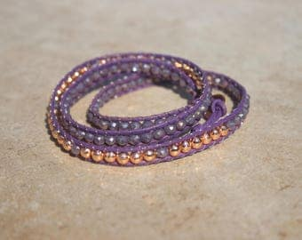 Purple Leather Wrap