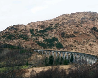 Bridge Harry potter, Glefinnan viaduct, Scottish landscapes, landscapes, natural paysayges, highlands scotland, mountains and nature