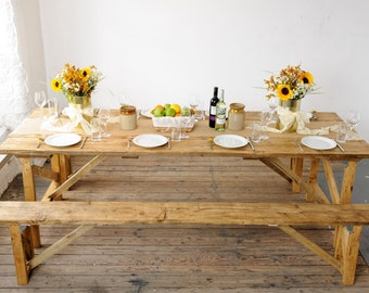 Rustic Bench Hire For Weddings and Events