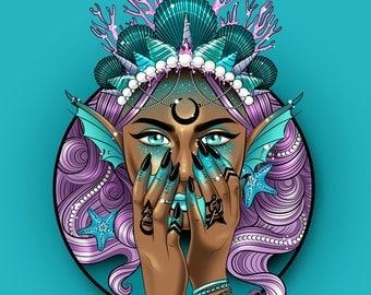 Mermaid Queen print
