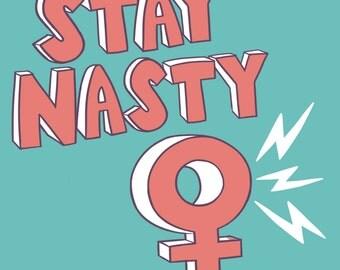 Stay Nasty sticker