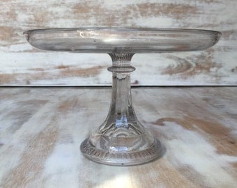 vintage glass cake stand classical style