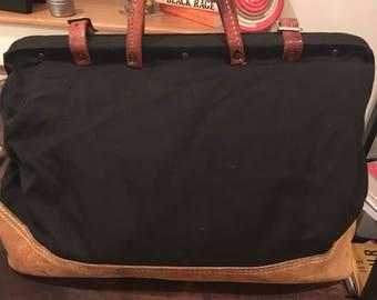 Vintage 1970s Canvas  Weekender Bag