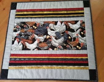 "Table top quilt  ""Mayhem in the coup"""