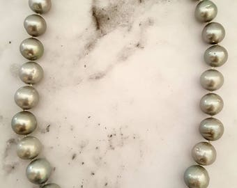 Natural Freshwater Potato to Round Pearl Necklace With 925 Sterling Silver Clasp (PEARL1012)