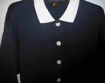 Womens Sweater/Jacket   Made by LIZSPORT    SIZE MEDIUM