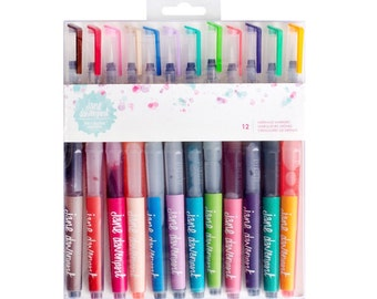 Jane Davenport Mermaid Markers / Scrapbooking / Journaling / Watercolor Markers / Art Tools / Brush Pen / Watercolot Brush Pen