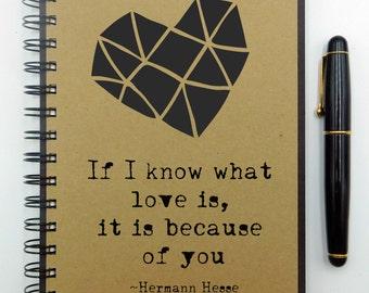Custom Notebook, Love Notes, Writing Journal, Anniversary Journal, Spiral Notebook, Bullet Journal