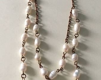 Fresh Water Pearl Long chain Necklace