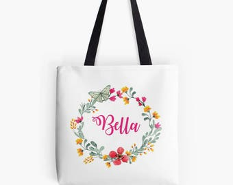 Bridal Tote Bag, Tote Bag, Bridesmaid gift, Bridesmaid Tote, Bride Bag, Wedding Tote Bag, Personalised Tote Bag