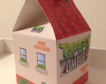 Box Box Plants Vs Zombies custom printable - Souvenir Birthday Party