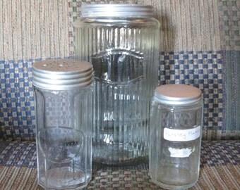 3 Antique Kitchen Jars