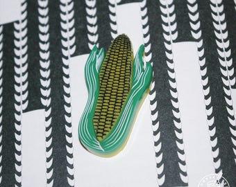 Corn cob - pin badge