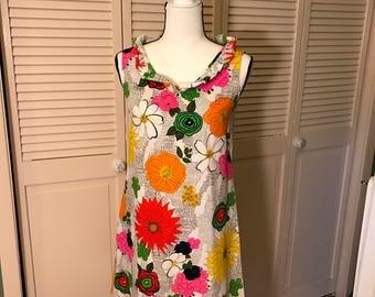 Vintage Floral A Line Dress Size 10