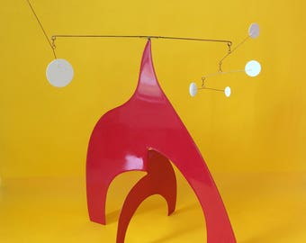 "Artwork ""Blue Diamond"" Homage Calder, mobile sculpture"