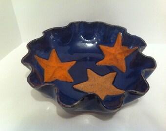 Deep Tide Pool- Pottery Bowl