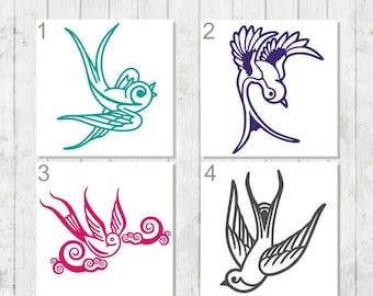 Sparrow Bird Decal - Bird Decal - Sparrow Car Decal - Bird Watcher Gift - Bird Stickers - Bird Car Decal - Bird Lover Decal - Nature Decal