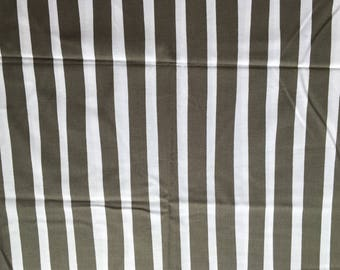 Quilting Fabric Gray and White Stripe one yard available