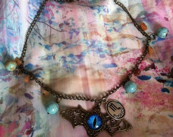 Dragon & Gemstone Chain Zodiac Necklace