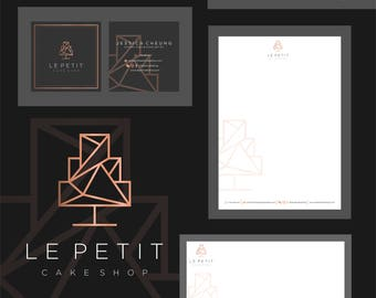Branding,Custom logo design,elegant logo,geometric logo,luxurious logo,letterhead,business card,stationery,professional branding,brand kit