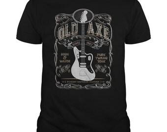 Guitar Shirt - Jaguar Guitar T shirt - Old Axe Jaguar Guitar Shirt - Guitar T-shirt - Guitarists Gift - Guitarist Tees - Guitar Gift