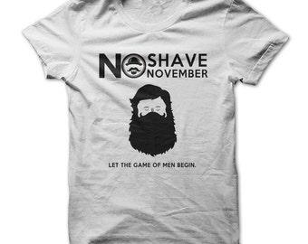 No Shave November - No Shave November T-Shirt - Men's Cancer Awareness - No Shaving Tshirt - Gifts
