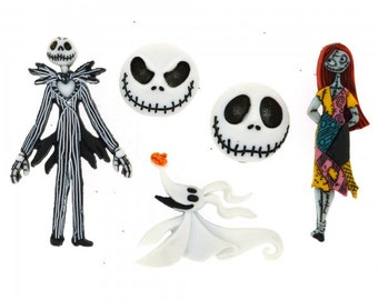 Disney Nightmare Before Christmas Dress It Up Button Pack Licensed Product