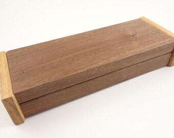 Valet box in walnut and hickory