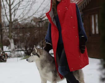 Red Jacket with a big hood