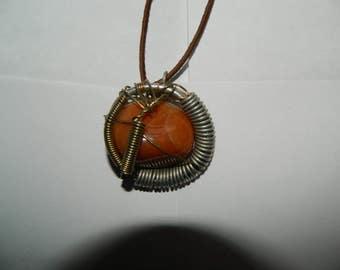 Heady wire wrap necklace