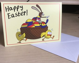 Working Hard for Easter - Easter Card