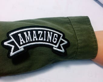 Y/Amazing/ free shipping iron on patch /embroidery appliqués