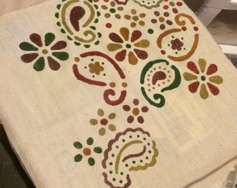 Paisley inspired Pillow, Pillow Cover, or Wall Hanging