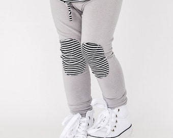 Organic Cotton Picnic Legging - Pebble Grey