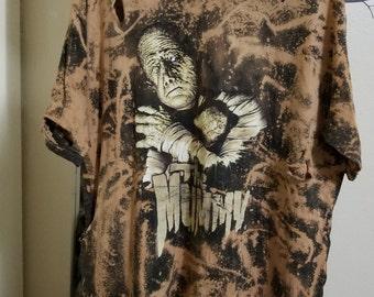 Mummy Horror Distressed Bleached T Shirt (Dress)