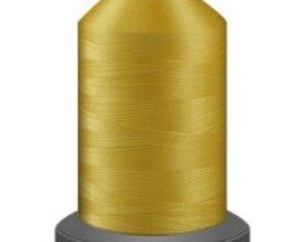 quilting thread, cornflower yellow thread, polyester thread, glide polyester no 40, Tex 27, sewing thread, sewing machine thread, 1000m cone
