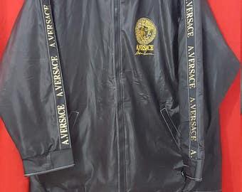 A.Versace Bomber Jacket Black Colour XL Size