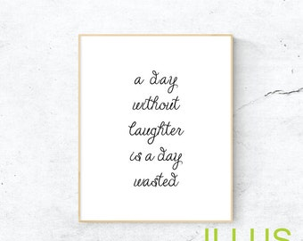 Day without laughter etsy for Minimalist gifts for housewarming