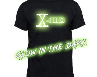 X-Files GLOW In THE DARK T-Shirt | Tv Movie T-Shirts |