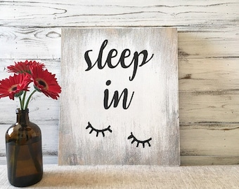 Rustic Bedroom Wall Decor Sleep In Sign Rustic Sleep In Sign Rustic Bathroom