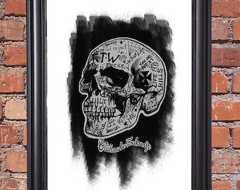 Skull of life - art print